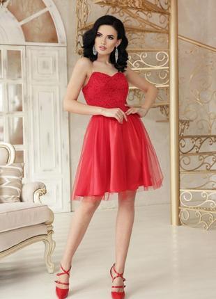 Вечернее красное выпускное платье  короткое сукня випускна вечірня коротка