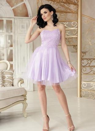 Вечернее сиреневое выпускное платье короткое сукня випускна вечірня коротка