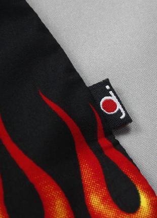 Рокабилли рубашка с языками пламени  duke jeans6 фото