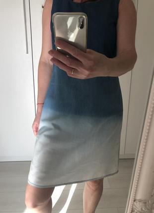 Платье голубое из тонкого джинса