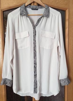 Блузка с вставками