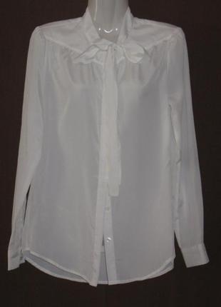 Блузка белая женская, с длинным рукавом, 48 р-р