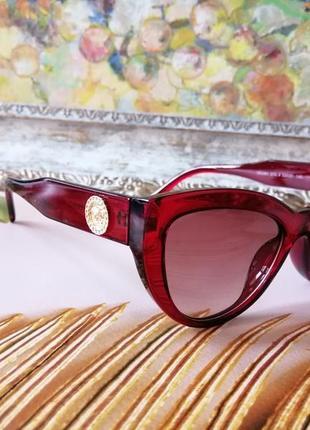 Эксклюзивные красные солнцезащитные женские брендовые красные очки