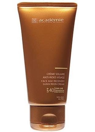 Солнцезащитный регенерирующий крем academie bronzecran face age  cream spf 40
