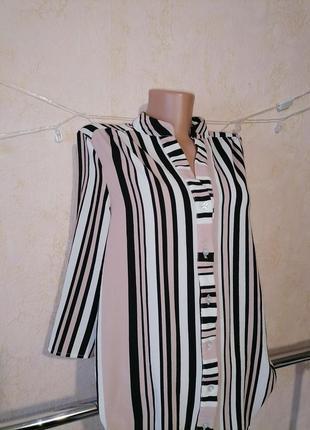 Блуза рубашка в полоску блузка сорочка2 фото
