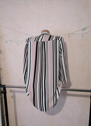 Блуза рубашка в полоску блузка сорочка3 фото