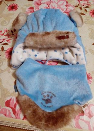 Модный наборчик)теплые шапочка и шарфик)