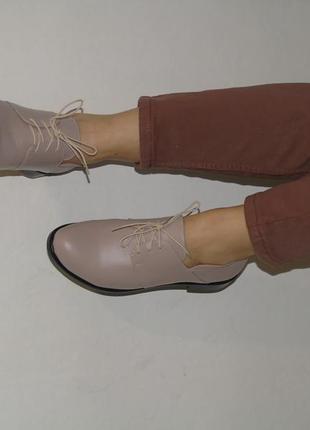 В наличии базовые кожаные туфли5 фото