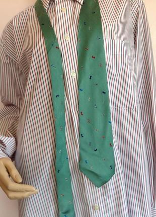 Шелковый  фирменный галстук brend boss