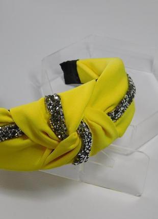 Обруч-чалма, колір жовтий