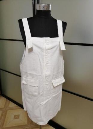 Котоновый джинсовый сарафан, размер универсальный с/м/л