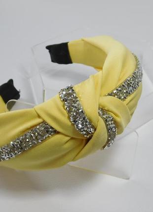 Обруч-чалма, колір лимонний