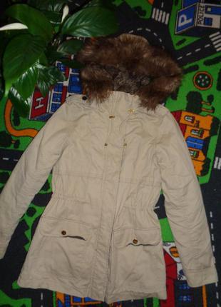 Шикарная куртка-парка bershka 2в1