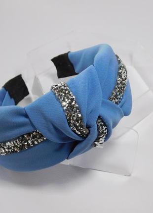 Обруч-чалма, колір синій