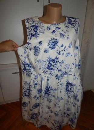 Simply be платье сарафан котоновый модный uk20 eur48 батал