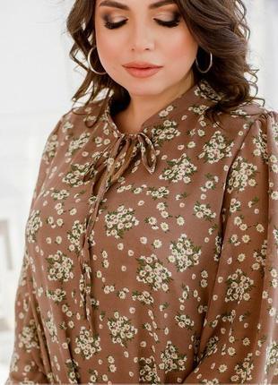 Шифоновое платье-сарафан свободного кроя размеры 46-48/50-52/54-56/58-60 (996)3 фото