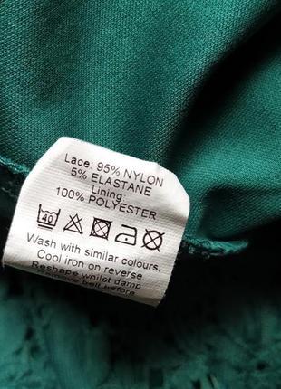 Бирюзовое кружевное платье с открытой спиной от river island8 фото