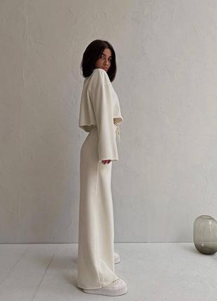 Стильные комплекты base for you с ультрамодными широкими штанами клёш2 фото