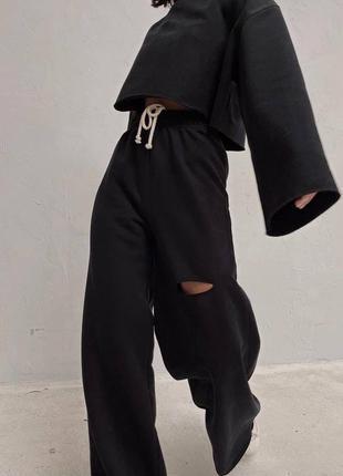 Стильные комплекты base for you с ультрамодными широкими штанами клёш6 фото