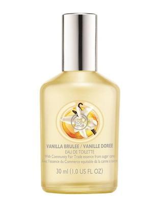 Англия редкость снятость the body shop vanilla brulee 30 мл ваниль крем брюле