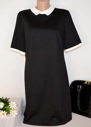 Брендовое черное нарядное миди платье papaya бангладеш вискоза этикетка2 фото