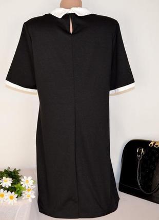 Брендовое черное нарядное миди платье papaya бангладеш вискоза этикетка3 фото