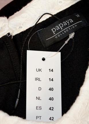 Брендовое черное нарядное миди платье papaya бангладеш вискоза этикетка4 фото