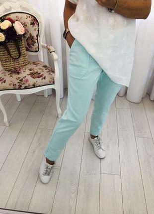 Mango брюки джинсы мятного цвета
