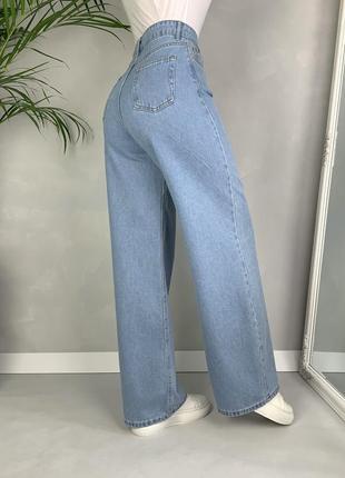 Идеальные джинсы трубы палаццо широкие на высокой посадке wide leg.2 фото