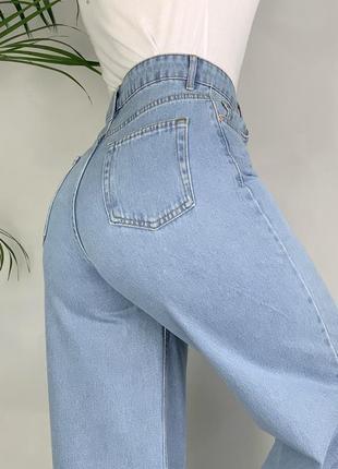 Идеальные джинсы трубы палаццо широкие на высокой посадке wide leg.4 фото
