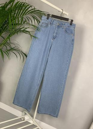 Идеальные джинсы трубы палаццо широкие на высокой посадке wide leg.7 фото