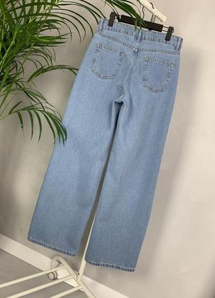 Идеальные джинсы трубы палаццо широкие на высокой посадке wide leg.6 фото