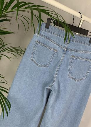 Идеальные джинсы трубы палаццо широкие на высокой посадке wide leg.5 фото
