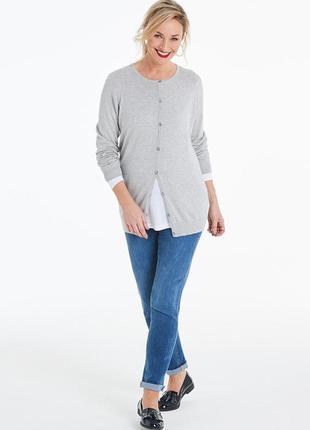 Брендовая серая кофта джемпер пуловер capsule бангладеш вискоза большой размер этикетка