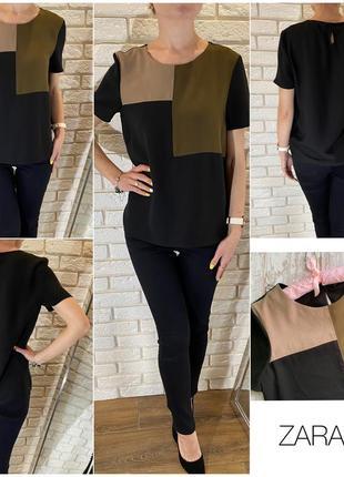 Шикарная блузочка с коротким рукавом zara