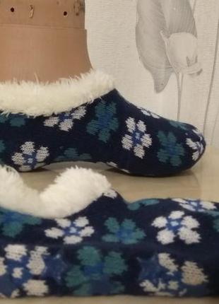 Теплые носки следки с мехом, шерстянные домашние тапочки р.36-40 германия