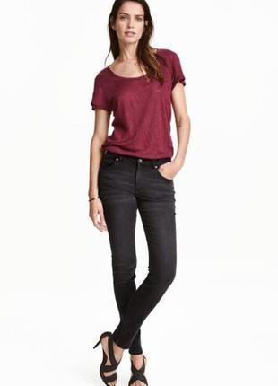 Брендовые, крутые, новые джинсы, скинни, средняя посадка h&m, р. s и l