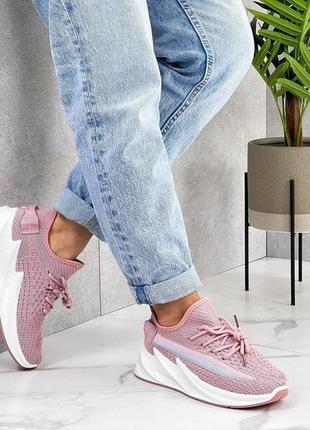 Кроссовки 🌺 мокасины дышащие текстильные на лето с мягкой подошвой массивные на платформе3 фото