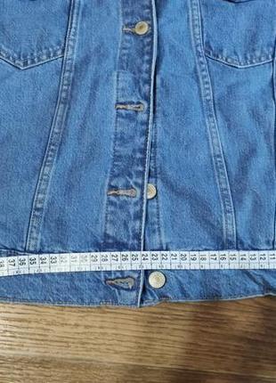 Джинсовый пиджак оверсайз7 фото