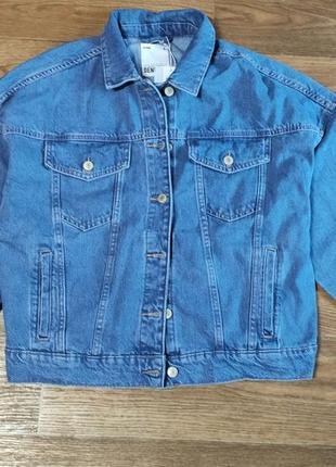 Джинсовый пиджак оверсайз1 фото