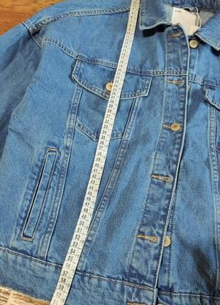 Джинсовый пиджак оверсайз9 фото