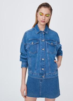 Джинсовый пиджак оверсайз2 фото