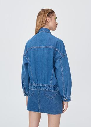 Джинсовый пиджак оверсайз5 фото