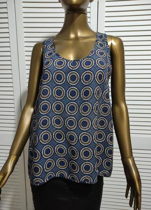 Блузка без рукавов топ в принт5 фото