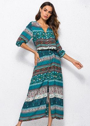 Платье в этно стиле 10-12р