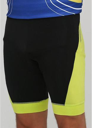 Мужские вело шорты черно-желтые crivit, размер s, м, l, xl