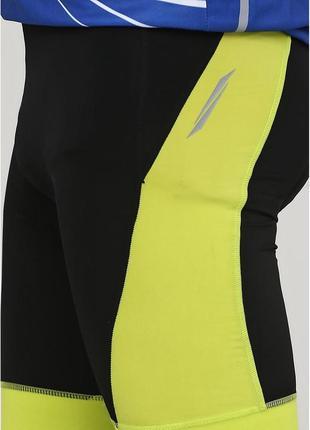Мужские вело шорты черно-желтые crivit, размер s, м, l, xl2 фото