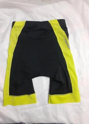 Мужские вело шорты черно-желтые crivit, размер s, м, l, xl6 фото