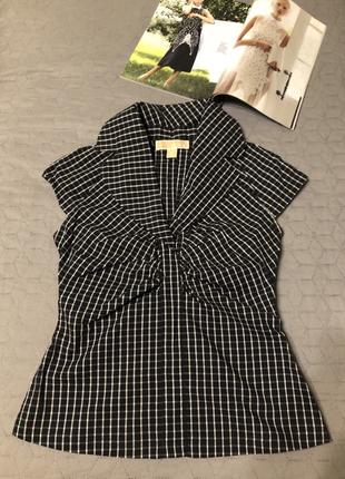 Брендовая женственная блуза/топ в клетку michael kors, оригинал, новая, р. s-м