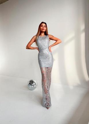 Блестящее платье макси💓